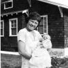 Leila Jane Hunter White & grandson Hubert Raymond Peck, Jr. 1923
